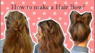 Как сделать красивый бант из волос ♥ 3 прически с бантами из волос ♥ Hair Bow tutorial(В этом видео я очень подробно рассказываю и показываю, как сделать бант из волос. Это очень красивый элемент..., 2015-03-12T07:53:30.000Z)