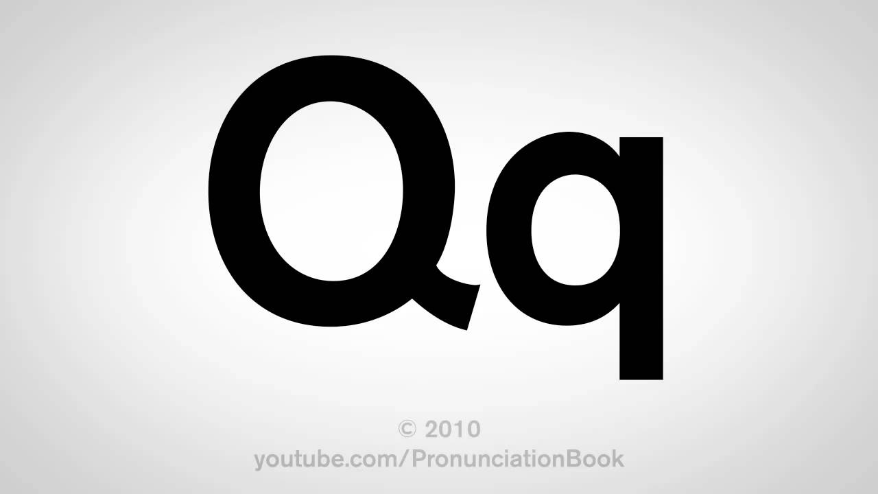 basic english how to pronounce the letter q
