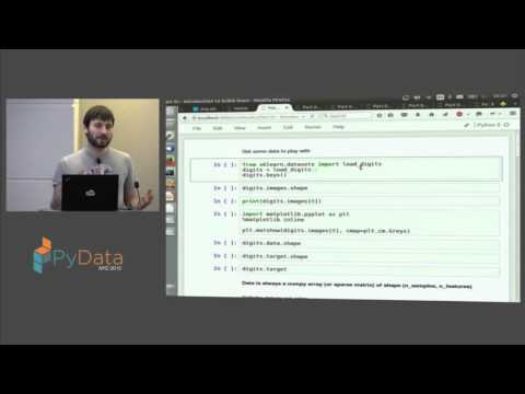 Andreas Mueller: Machine Learning with scikit learn