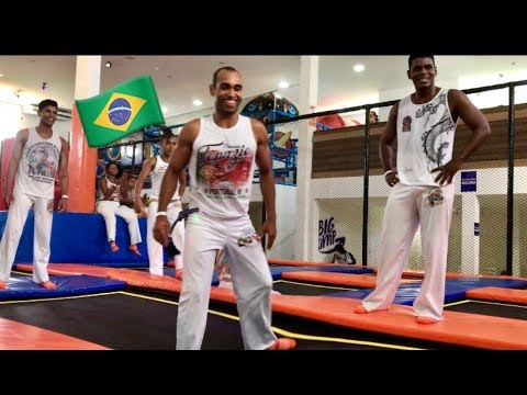 Capoeira Mixed Martial Arts on Trampolines