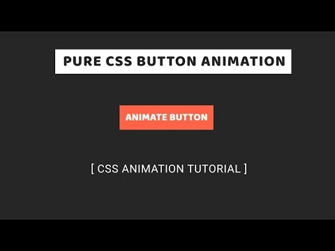 Pure CSS Button Hover Animation   CSS Animation Tutorial