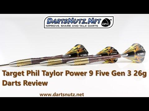 Target Phil Taylor Power 9Five Gen 3 26g darts review