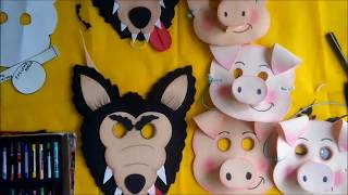 Como Hacer Un Antifaz De Cerdo Antifaces De Animales Para Ninos