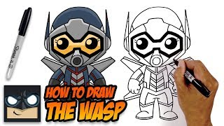 How to Draw Wasp | The Avengers | Step-by-Step Tutorial