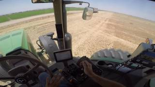 GoPro: John Deere 8260R Tractor, Brent 1084 Cart, JD 9660/9550 Combine, Wheat Harvest 2016, POV