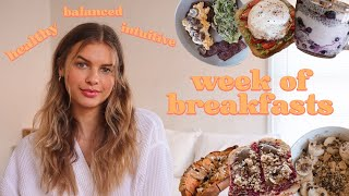 What I Ate This Week: Breakfast Edition (intuitive, balanced, non-restrictive!)