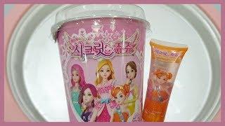 시크릿 쥬쥬 솜사탕 철판아이스크림 만들기 / Secret Jouju Ice Cream Rolls