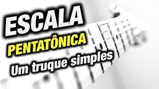Escala pentatônica : Um truque simples para tocar melhor - Aula de guitarra thumbnail