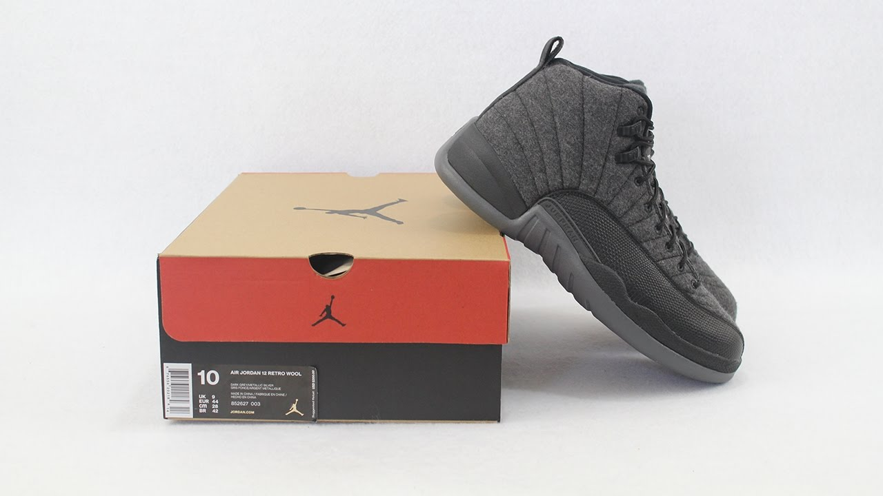 5695dbb06e01 cheap the air jordan 12 retro wool youtube d6de2 91dcb