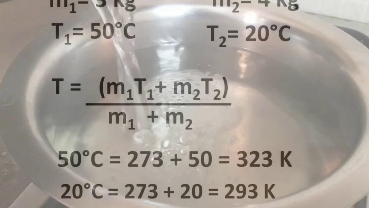 Physics Final Temperature Of Mixture Thermal
