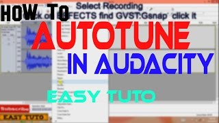 Tutorial Gsnap Tutorial Audacity   Tutorial Video Craft