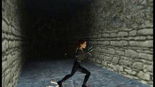 Tomb Raider II speedrun GLTICHLESS The Great Wall in 6:18 (PC NO single-segment)