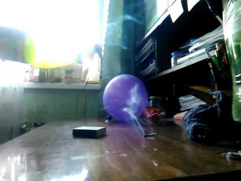 как надуть шарик гелем в домашних условиях - YouTube