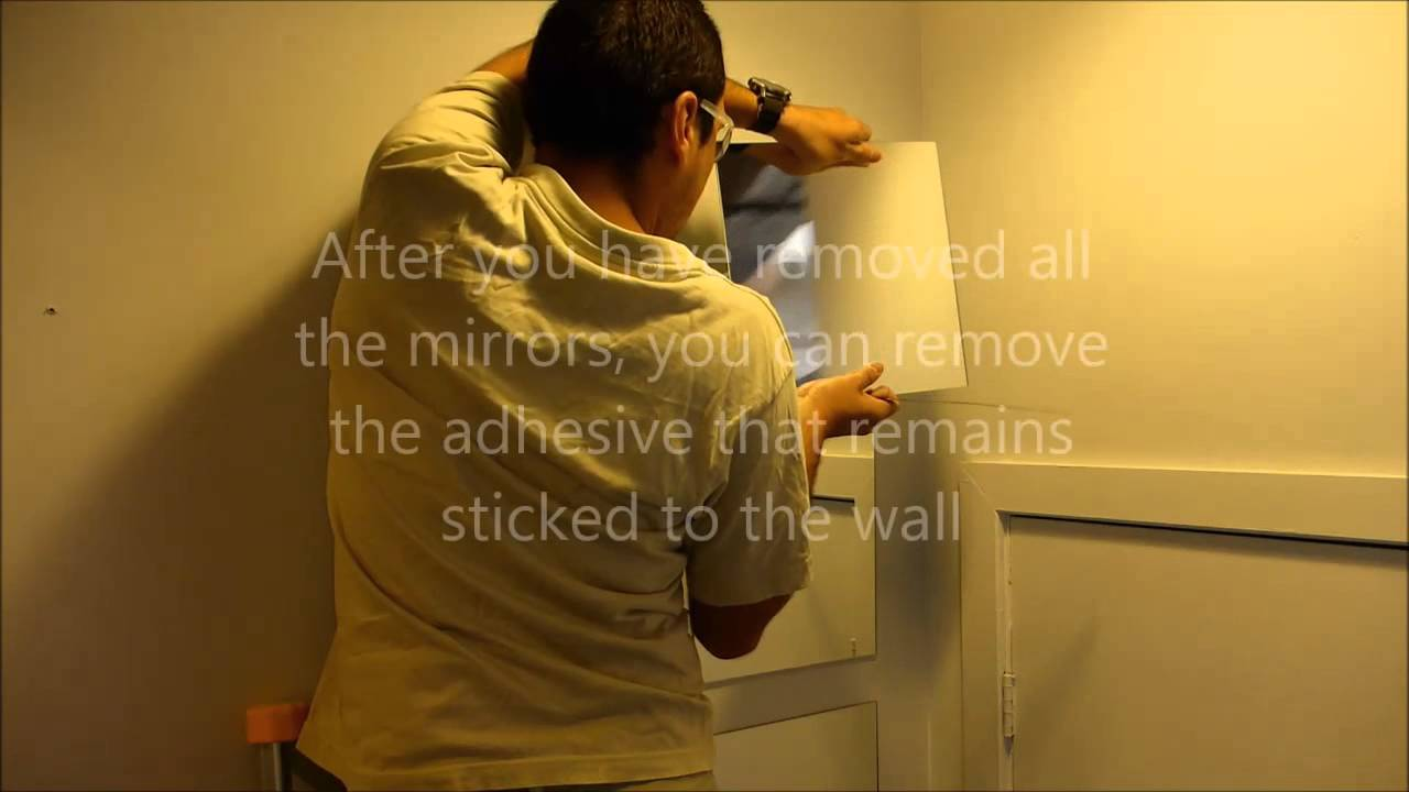 Removing And Reusing Ikea Quot Lots Quot Mirrors Youtube