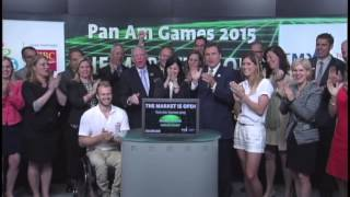 Pan American Games 2015 opens Toronto Stock Exchange, July 10, 2013.
