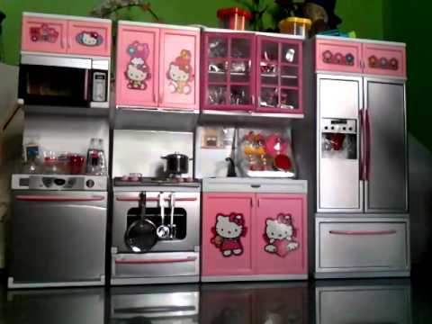 hello kitty modern kitchen cooking toys youtube. Black Bedroom Furniture Sets. Home Design Ideas