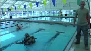 Soldiers Conduct Drown-Proof Training