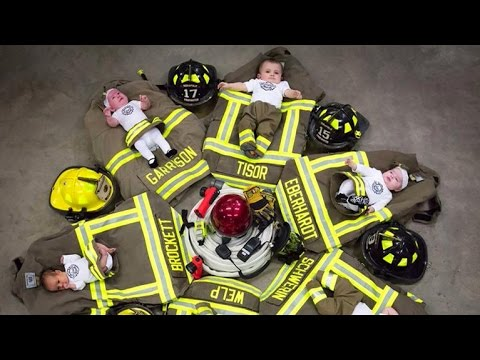 Iowa firehouse welcomes 6 babies in 7 months