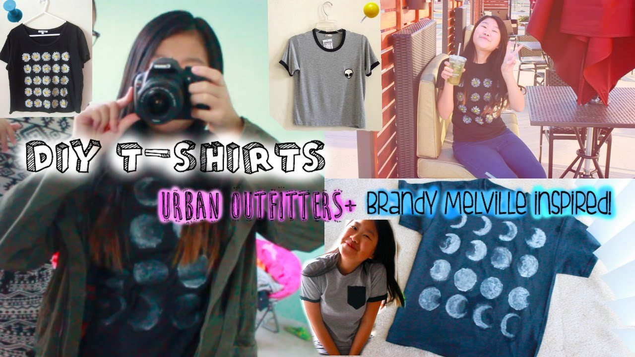 Diy brandy melville inspired shirt youtube - Diy Brandy Melville Graphic Tees Without Iron On Transfer Paper Youtube
