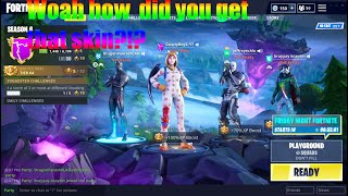 HOW TO GET ANY UNRELEASED SKINS IN FORTNITE BATTLE ROYALE *FOR FREE*