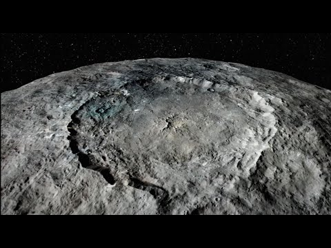 Flight Over Dwarf Planet Ceres