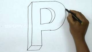 How to Draw P in 3D