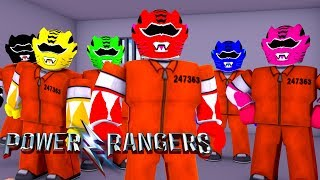 DISGUISING OURSELVES AS THE POWER RANGERS IN JAILBREAK!! ROBLOX