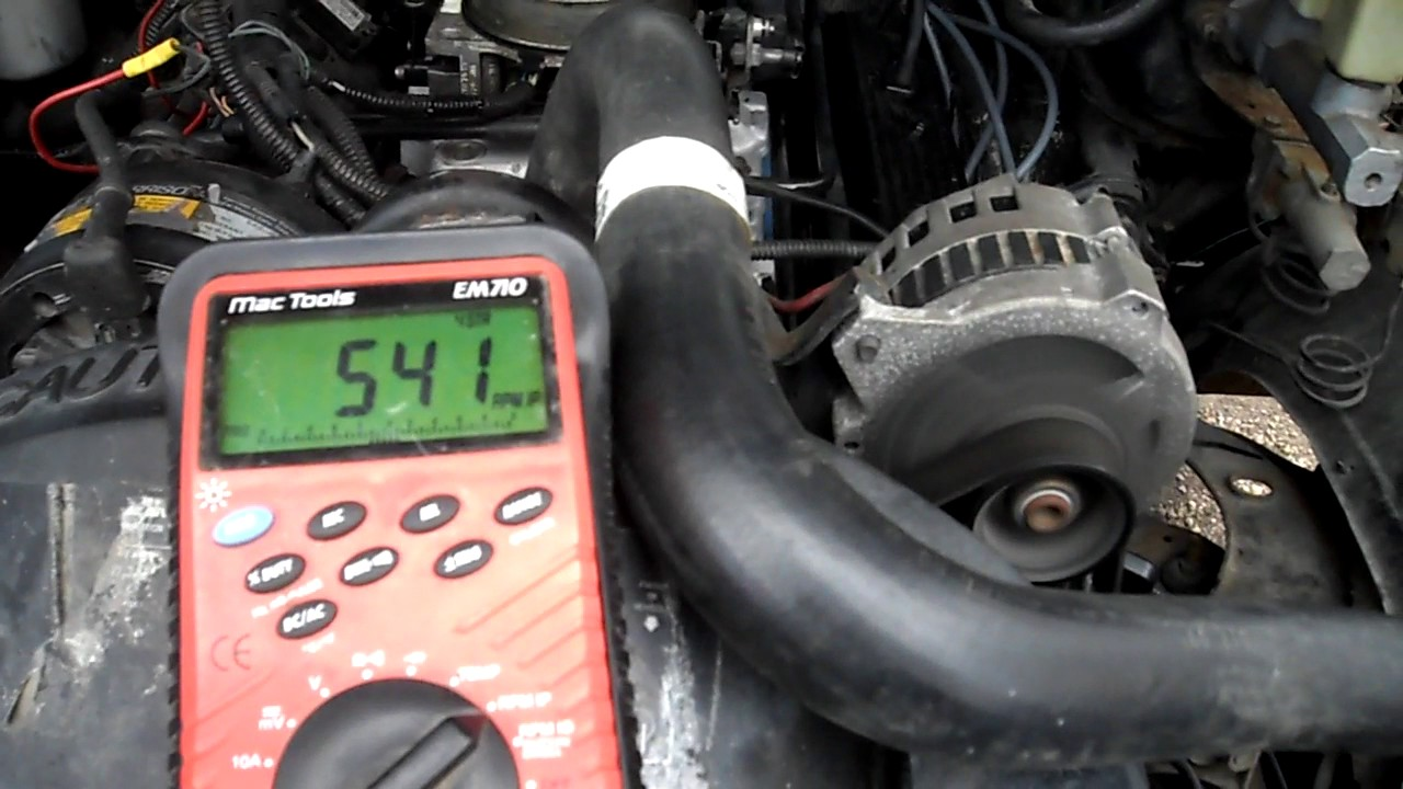 Chevy Tbi Base Idle Adjustment Youtube 350 Timing Problems