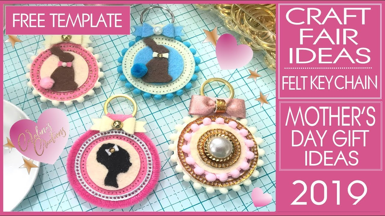 Craft Fair Ideas 2019 - DIY Felt Key Chain - Mother's Day Gift Ideas -  Arteza Felt