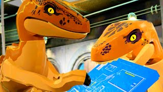 "LEGO Jurassic World Trapped in the Control Room Scene ""Jurassic Park"""