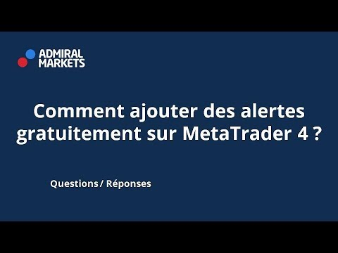 Comment Ajouter Des Alertes Gratuitement Sur Metatrader 4 Youtube