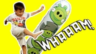 Angry Birds Bop Bag - KNOCK OUT the Pigs!!! and Angry Birds Space Mash