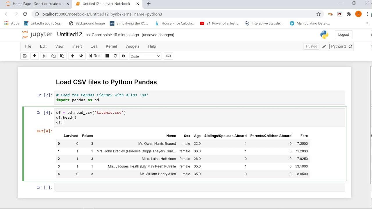 how to importreadwrite csv file to python pandas  youtube