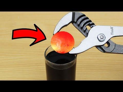 EXPERIMENT Glowing 1000 degree METAL BALL vs PEPSI