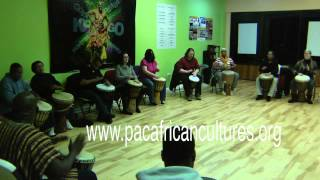 DRUM CIRCLE AT PERFORMING ARTS ENTER FOR AFRICAN CULTURES,  Dec 2014