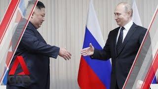 Kim Jong Un and Vladimir Putin meet at Vladivostok summit