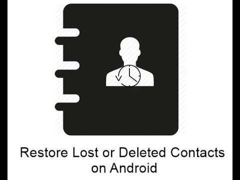 How To Restore Contacts From Android