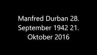 manfred durban verstorben 28 september 1942 21 oktober 2016