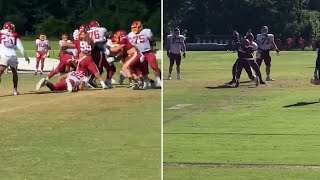 Chase Young Stops Adrian Peterson In His TRACKS at Washington Football Team Practice!