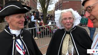 Sen. Victory talks with the Holland town crier