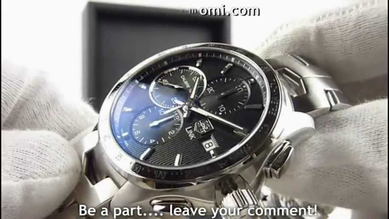 87e50458133 TAG Heuer CAT2010 BA0952 Link automatic chronograph black dial - YouTube