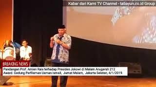 Mengejutkan, Prof Amien Rais - Rezim Jokowi tidak miliki Kompas Moral