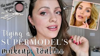 TRYING A SUPERMODEL'S *genius* MAKEUP TIPS // Victoria's Secret Angel