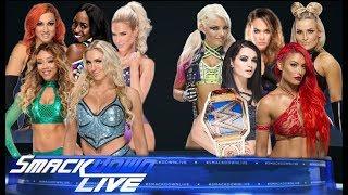 720phd WWE Smackdown Team Charlotte vs Team Paige (5 vs 5 Diva tag team match)