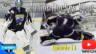 Junior Hockey Vlog Ep. 13 Mic'd | 50 Saves as Playoff Race Heats up | GoPro
