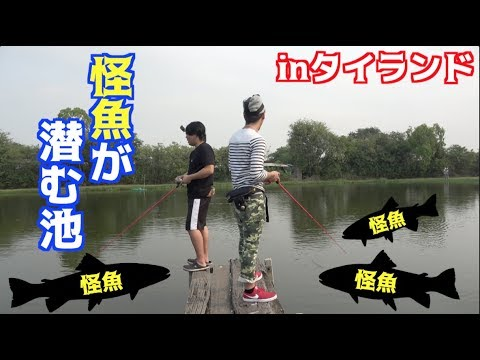 釣りよかオリジナルルアーをタイの怪魚パラダイスに投げたら・・・#1