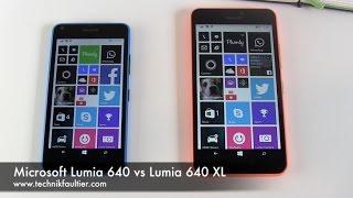 Microsoft Lumia 640 vṡ Lumia 640 XL