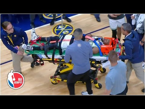 Kemba Walker Suffers Apparent Neck Injury Vs. Nuggets And Leaves On A Stretcher | NBA On ESPN