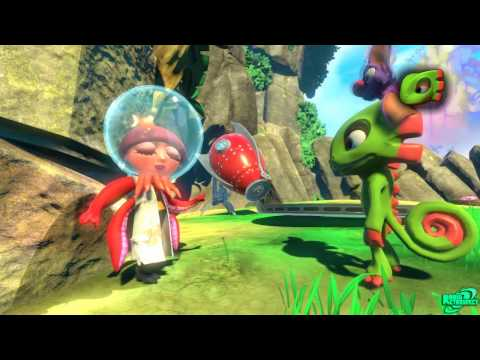 Yooka Laylee Walkthrough Tribalstack Tropics 100% World 1 All Pagies, Quills, Upgrades Guide