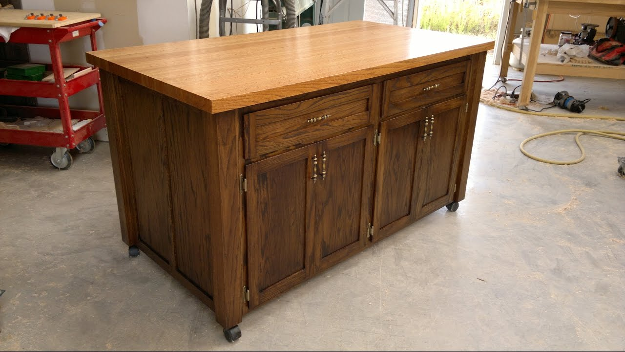 kitchen island on wheels Fantastic Kitchen Islands On Wheels   YouTube kitchen island on wheels